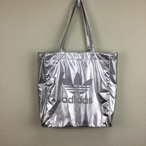 Adidas Originals Trefoil Silver Metallic Tote Bag